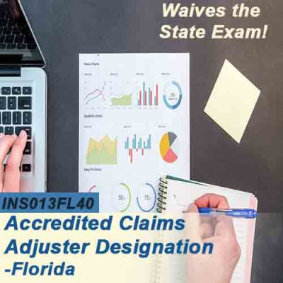 Florida - ACCREDITED CLAIMS ADJUSTER DESIGNATION COURSE (ACA) ONLINE (INS013FL40) 6-20